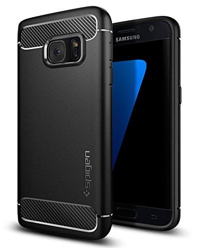 Coque Galaxy S7, Spigen [Rugged Armor] Retablissement [Black] Ultimate protection contre les chutes et les impacts, Coque pour Samsung Galaxy S7 (2016) - (555CS20007)