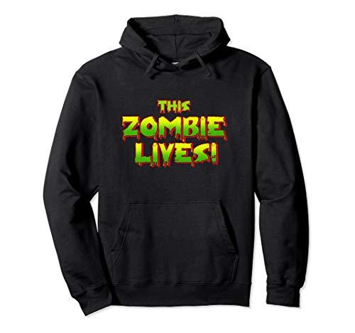 Dieses Zombie lebt faule Halloween-Kostüm Pullover Hoodie