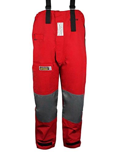 Navis Marine Segelhose,Küsten hosen,Schlechtes Wetter hose (Rot, X-L) (Regen-trägerhose Atmungsaktive)