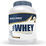 Muscle Power Whey Protein Concentrate with Rich Source of BCAA, Pre/Post Workout Supplement (Rich Chocolate), 2.250 kg/5 lb