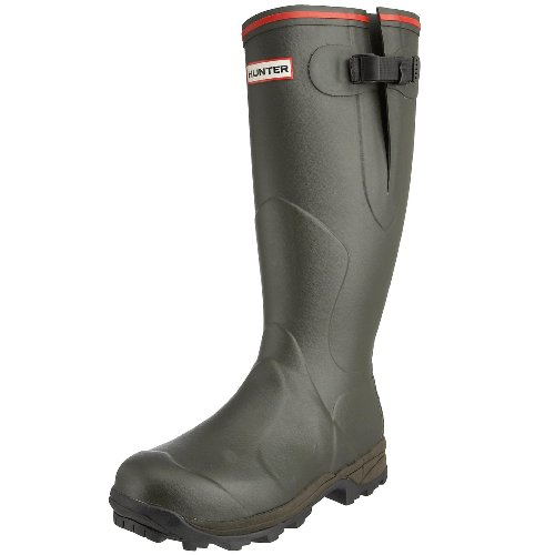 Hunter Balmoral Bamboo Carbon Wellies, Boots homme Noir