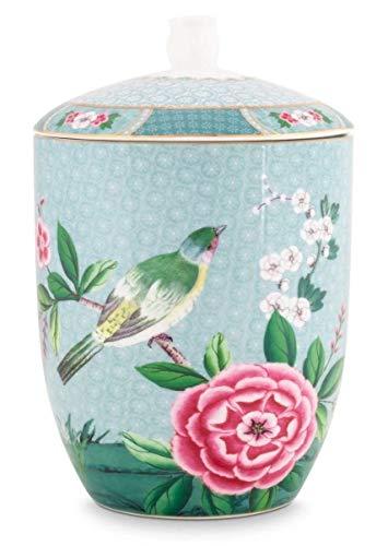 Pip Studio Vorratsdose Blushing Birds | blau - 1500 ml