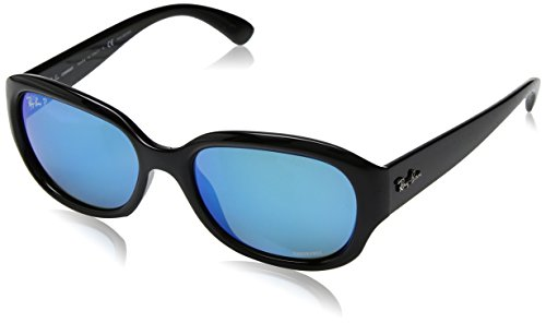 RAYBAN JUNIOR Damen Sonnenbrille RB4282 Chromance Black/Greenmirbluepolar, 55