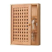 Zeller Key Box, Bamboo, Brown, 19 x 6 x 27 cm