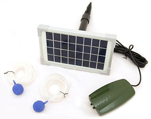 Oxbridge - Sauerstoffpumpe für den Gartenteich - solarbetrieben - 2 Sprudelsteine (Solarbetriebene Camping-ausrüstung)