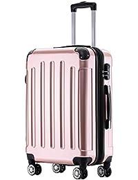 BEIBYE Zwillingsrollen 2048 Hartschale Trolley Koffer Reisekoffer in M-L-XL-Set in 15 Farben