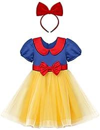 Principessa Biancaneve Carnevale Costumi Cosplay Comunione Vestito da  Ragazza Festa Compleanno Halloween Natale Cerimonia Travestimento per 3144b7803dae
