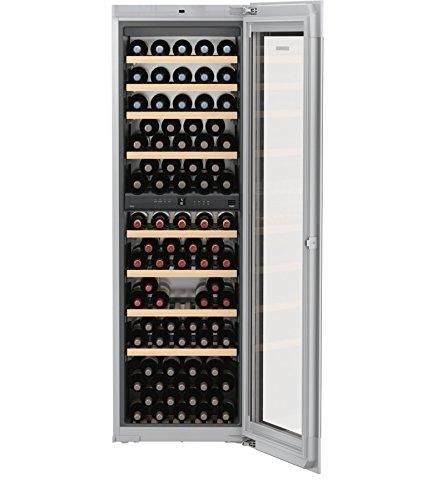 Liebherr ewtgb 3583-20eingebaut Kombi-Wein-83bottle (S) A-Weinkühler (eingebaut, grau, grau, 10Regale, 1Tür (S), Schwarz)