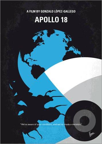 Alu Dibond 50 x 70 cm: No873 My Apollo 18 minimal movie poster von chungkong (18-poster Apollo)