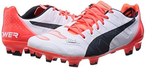 Bianco/Nero/Arancione EU 41 Puma Evopower 1.2 FG Scarpe da Calcio da nl8