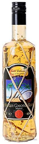 Golden Coconut Rum Likör 40{8699d8e281f689731e2f01ec3696ec5d1c8867853398756ec8deeca3a2deea6e} 0,7l Blattgold Edition PiHaMi® Gastro