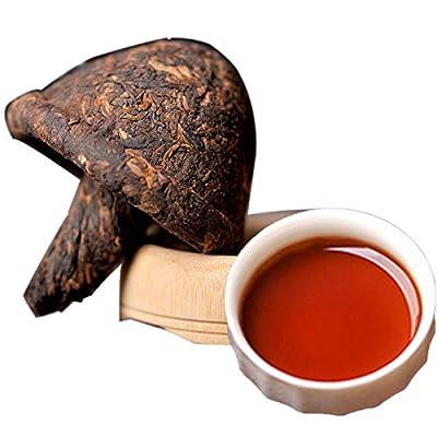 Thé Pu'er chinois 400g ?0.88LB? Thé Puer mûr Thé noir Champignon Forme de thé Tuo Cha Vieux thé Pu-erh Thé cuit Vieux arbres Pu pu thé