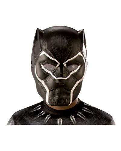 Horror-Shop Black Panther Halbmaske für Kinder als Marvel Kostüm ()