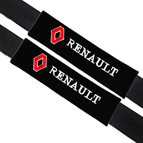 VILLSION 2Pack Auto Rembourrage de ceinture de sécurité Coussin Coton Doux pour Renault Accessoires