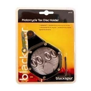 JDC MOTORCYCLE Motorbike Waterproof Tax Disc Holder BLACK