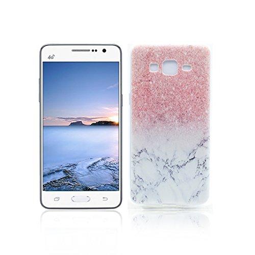 Funda Samsung Galaxy Grand Prime G530 Carcasa Protectora OuDu Funda para Samsung Galaxy Grand Prime G530 Caso Silicona TPU Funda Suave Soft Silicone Case - Mármol
