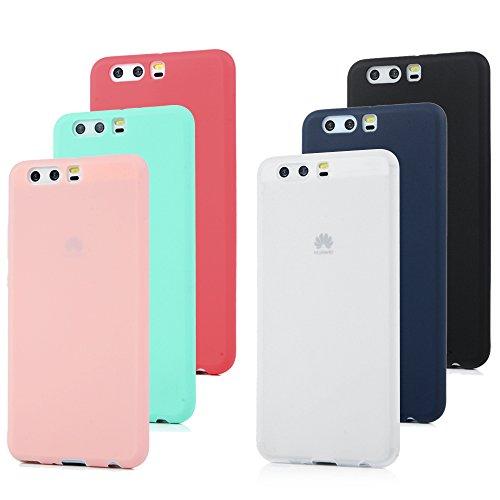 6x Cover Huawei P10 Plus, Custodia Morbida Silicone TPU Flessibile Gomma MAXFE.CO Case Ultra Sottile Cassa Protettiva per Huawei P10 Plus