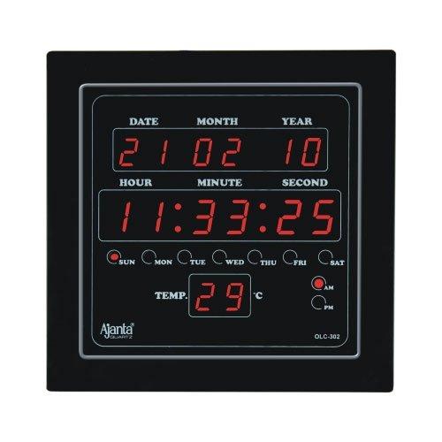 Ajanta Digital Clock Black Olc-302