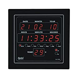 Ajanta Digital Clock with an electric connection, Black