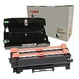 DOREE (NO CHIP) 2x TN2420 Cartuccia del Toner e DR2400 Kit Tamburo Compatible per Brother HL-L2310D L2350DW L2370DN L2375DW/ DCP-L2510D L2530DW L2537DW L2550DN/ MFC-L2710DN L2710DW L2730DW L2750DW