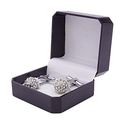 Banithani Argent Boutons De Manchette De Tonalité Hommes Accessoires Shirt Cadeau De Fête De Marié De Mariage Bijoux argent-1