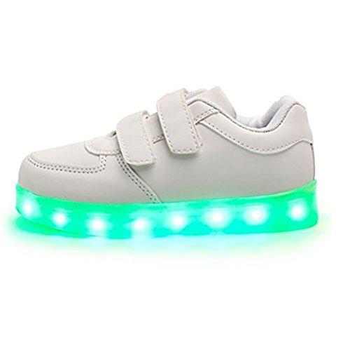 Schuhe Led 7 Usb High C28 Turnschuhe Aufladen Unisex Farbe Sportschuhe Für junglest® Sneaker Leuchtend kleines erwa present Handtuch Sport Top tXxvf0