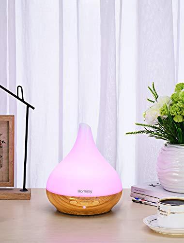 Aroma Diffuser, Verbesserte Version VicTsing 330ml Diffusor Aromatherapie  mit Schlafmodus, Luftbefeuchter Ultraschall mit 7 Farben LED, Öl Diffuser