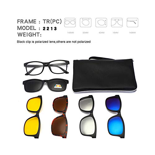 FGRYGF-eyewear2 Sport-Sonnenbrillen, Vintage Sonnenbrillen, Square Retro Clip On Sunglasses Männer Polarized WoMänner Magnetic Night Vision Optical Frame Set 5+1 Sun Glasses NEW Lunettes Oculos 9