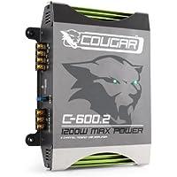 Cougar C600.2 Amplificatore finale di potenza auto Hi-Fi car (1200 Watt, 1 o 2 canali, ponticellabile)
