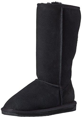 EMU Stinger Hi, Damen Bootsschuhe, Schwarz (Black), 37 EU (4 Damen UK) - Black Suede Slouch Boots