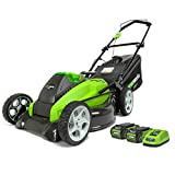 Greenworks 19Inch 40V Cordless Mower & 2 Batteries