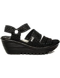 Woz? Sandalo Nero con Elastico e Zeppa Articolo UP689 Nuova Collezione Primavera Estate 2018