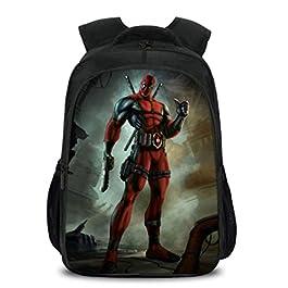 0d192eb43e Backpack Zaino per Esterno di Grande capacità con Stampa Deadpool Zainetti per  Bambini Leggero Viaggio Zainetto ...