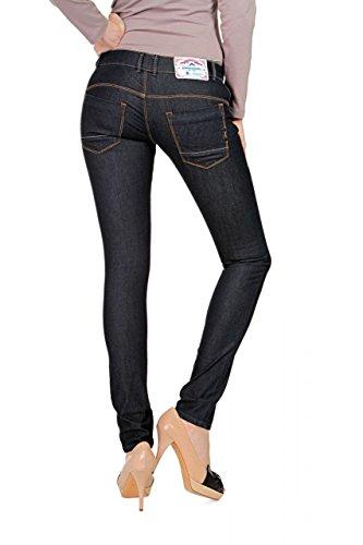 Anna David Damen Jeans Skinny Slim Leg Jeans GLAM Dunkelblau
