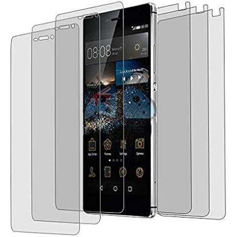 6x Alamea Huawei P8 Lite Schutzfolie (3x vorne - 3x hinten) - passgenaue Folie in antireflektierender Premium Qualität zum Schutz Ihres