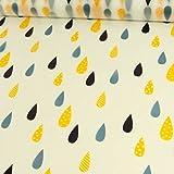 Stoffe Werning Regenjackenstoff Regentropfen Outdoorbekleidung - Preis Gilt für 0,5 Meter -