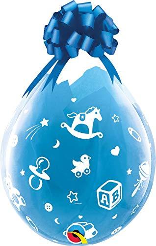 NANA'S PARTY Qualatex Latex-Luftballons für Weihnachten, Geburtstag, Liebe, für Jungen und Mädchen, 6 Stück Clear Baby's Nursery (37644) -