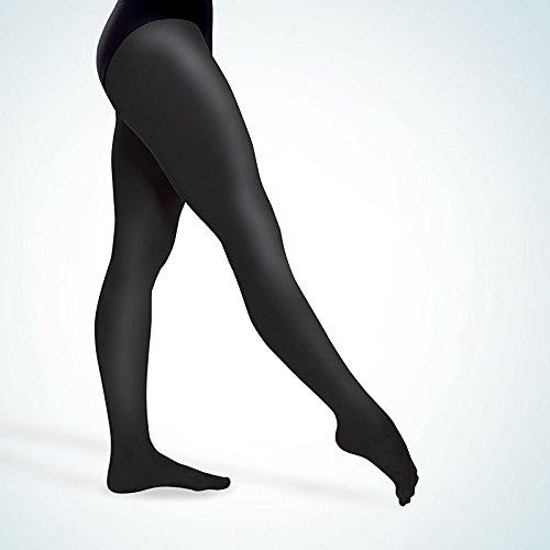 103 Ballettstrumpfhose mit Fersenloch schwarz L/XL