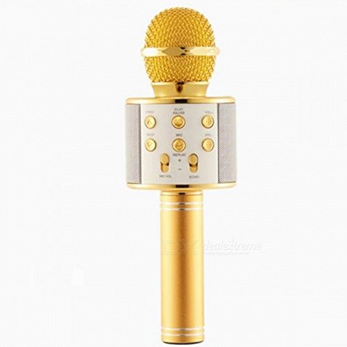 Kartik Wireless mike with speakers for singing Q7 Portable Multi-Function Bluetooth Microphone Karaoke With Built In Speaker- (Color May Vary)
