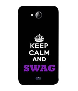 Fuson Designer Back Case Cover for Micromax Bolt Q338 (Calm Swag Naughty Humorous Message)