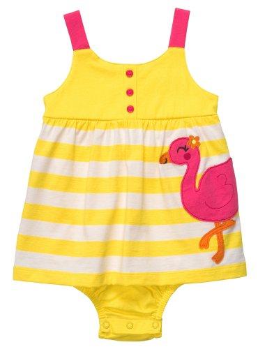 Cater's Baby Mädchen Sommer Body Kleid Flamingo gelb weiß pink (86)