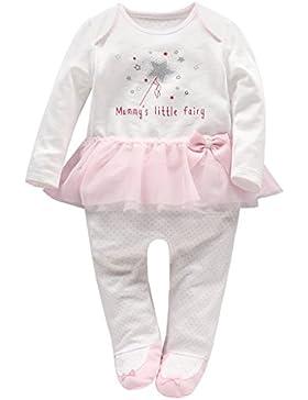 Baby Mädchen Tütü Strampler Spielanzug Langarm Footies Overalls Säugling Schlafanzug