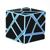 WXXW Fantasma Speed Cubo, 3 x 3 Magic Puzzle Stickerless Velocidad Mágica Suave Fácil De Girar para El Juego De Entrenamiento Mental, Blue