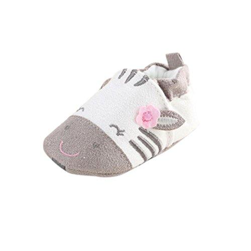 FNKDOR Baby Jungen Mädchen Lauflernschuhe rutschfest Haien Schuhe Stiefel (6-12 Monate, Kuh)