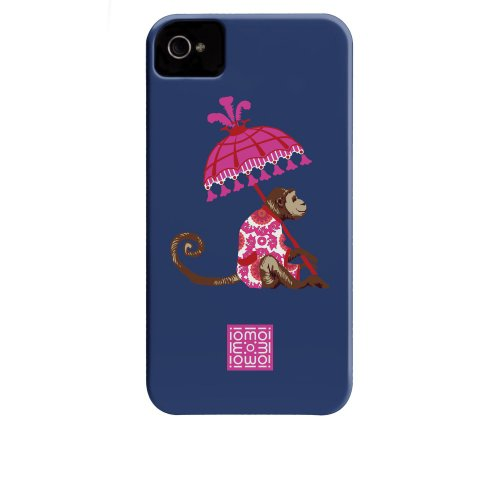 Case-mate iomoi Barely There Designer Cases for Apple iPhone 4/4s - Monkey with Umbrella Monkey with Umbrella
