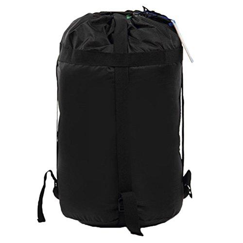 VORCOOL Material de Compresión Impermeable Saco de Dormir Bolsa de Camping Senderismo Mochilero Caza Tamaño de Viaje L (Negro)