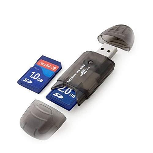 Mini SD MMC T-Flash Schlüssel USB 2.0 Kartenleser (SD-Karte und Kartenadapter nicht im Lieferumfang enthalten) Schwarz