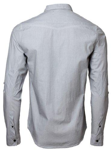 Dissident 1H1418 Chemise en coton à manches longues retroussables pour Homme Gris Charbon