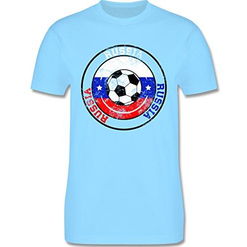 EM 2016 - Frankreich - Russia Kreis & Fußball Vintage - Herren Premium T-Shirt Hellblau