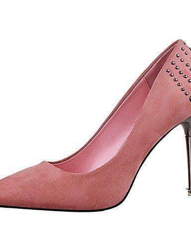 WSS 2016 Chaussures Femme-Décontracté-Noir / Rose / Rouge / Gris / Corail / Bordeaux-Talon Aiguille-Talons-Talons-Laine synthétique fuchsia-us6 / eu36 / uk4 / cn36